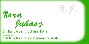nora juhasz business card
